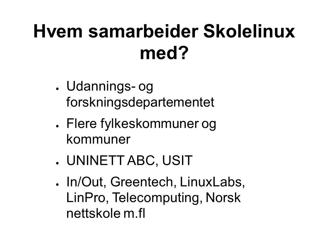 Hvem samarbeider Skolelinux med.