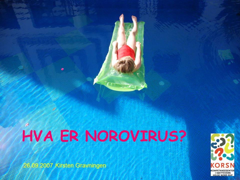 Bodø 26.09.20071 HVA ER NOROVIRUS? 26.09.2007 Kirsten Gravningen
