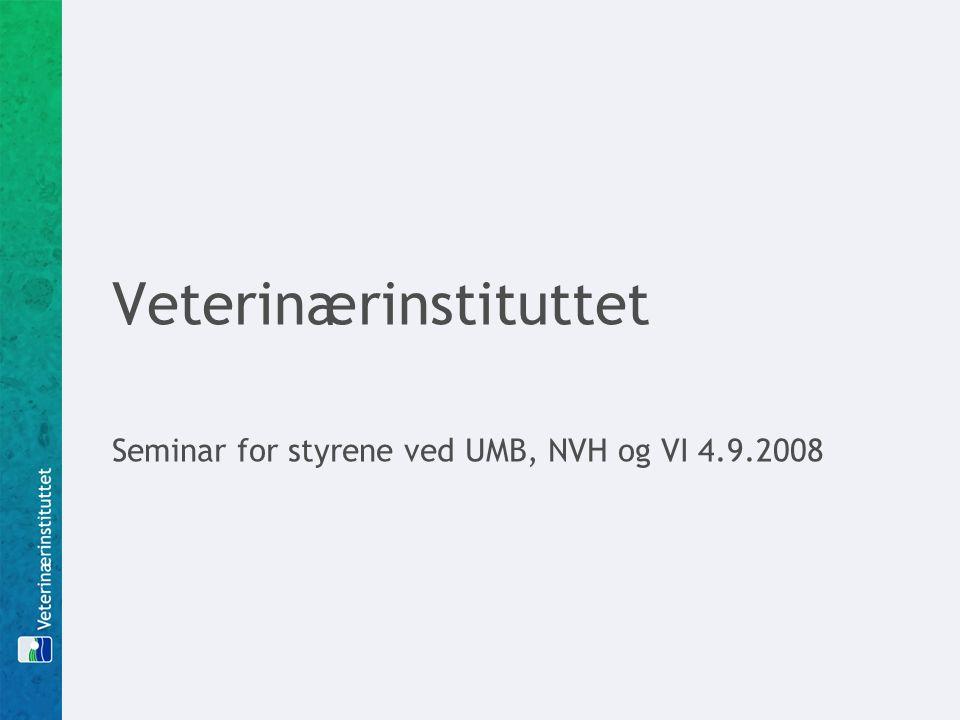 Veterinærinstituttet Seminar for styrene ved UMB, NVH og VI 4.9.2008