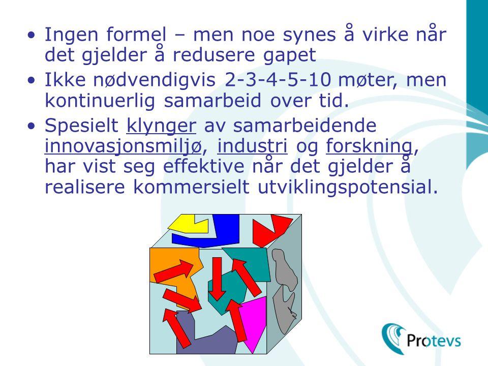 •Ingen formel – men noe synes å virke når det gjelder å redusere gapet •Ikke nødvendigvis 2-3-4-5-10 møter, men kontinuerlig samarbeid over tid.