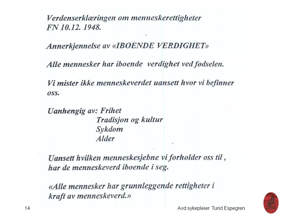 14 Avd.sykepleier Turid Espegren