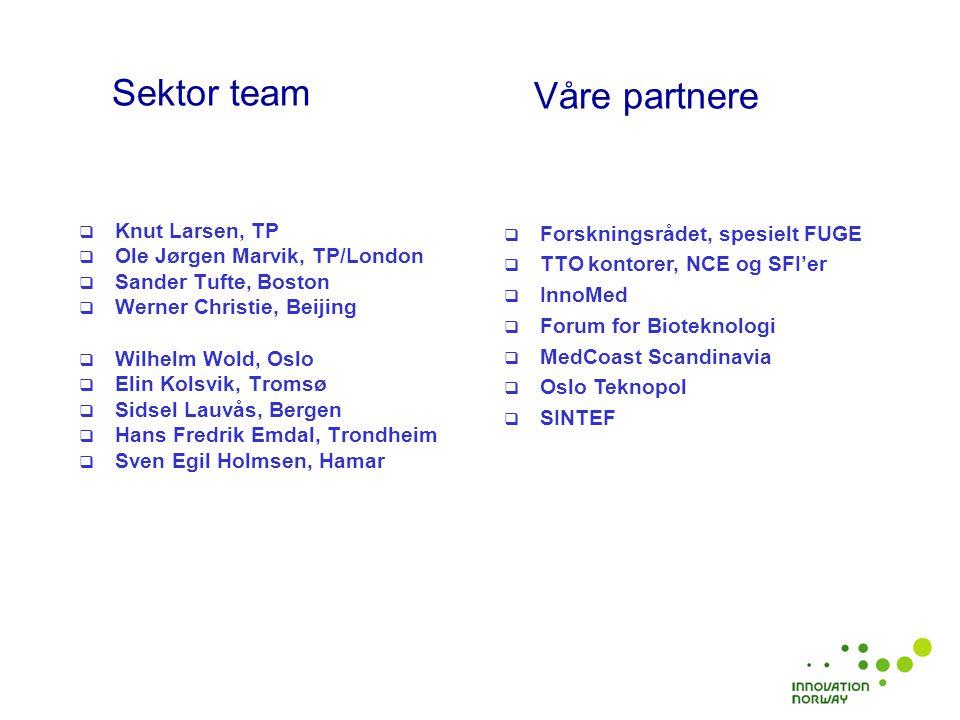  Kunnskapsgrunnlag og strategi: Kartlegging av sektoren gjennom NorBioBase og utvikling av sektor strategi.
