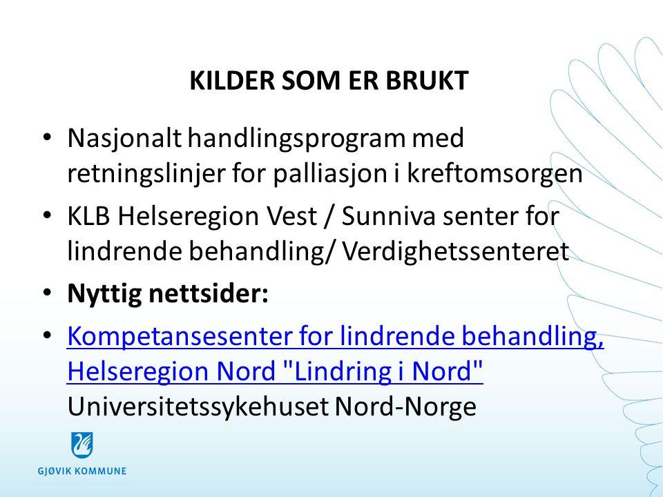 • Lindring i Nord er en nyttig håndbok i lindrende behandling utgitt av kompetansesenteret i Helseregion Nord.