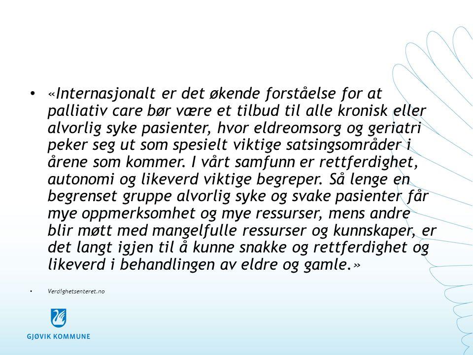 • «De fleste gamle trenger palliativ care.