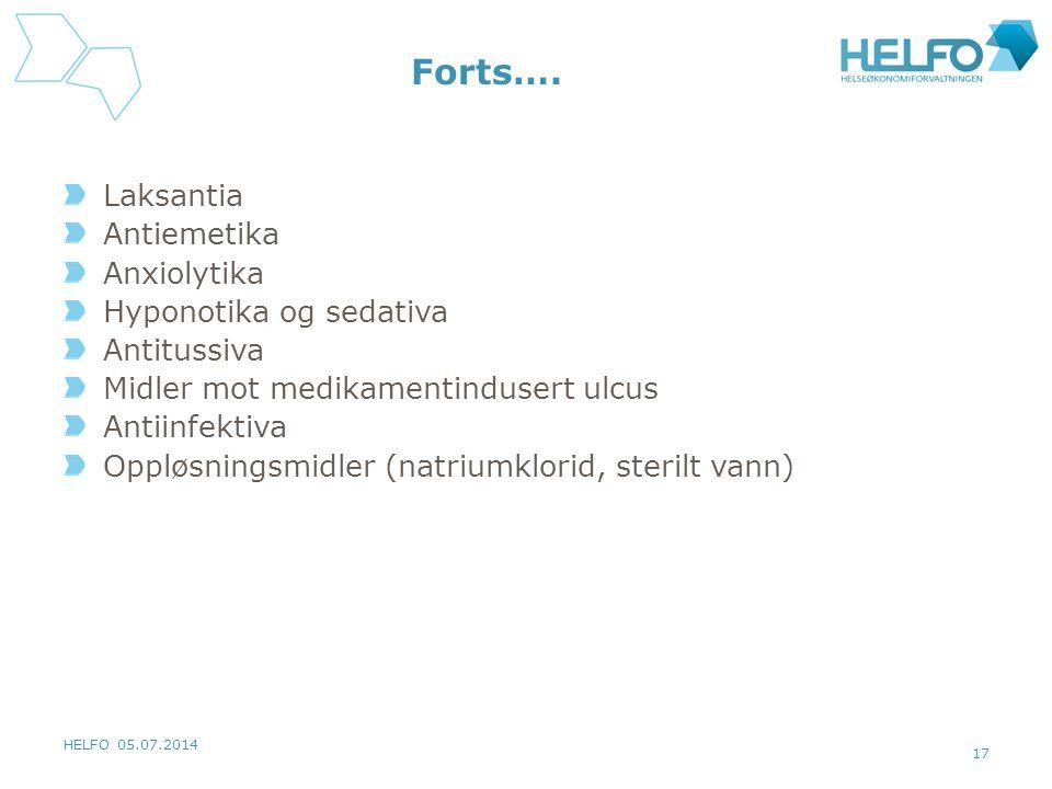 HELFO 05.07.2014 17 Forts….