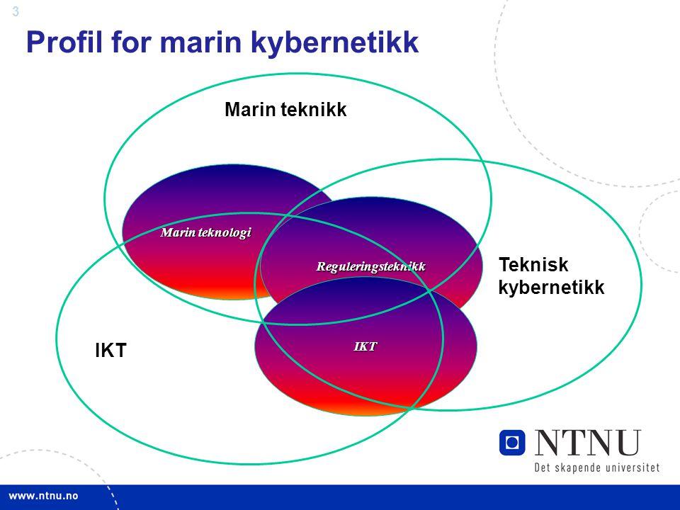 3 Profil for marin kybernetikk Marin teknologi Reguleringsteknikk IKT Teknisk kybernetikk Marin teknikk IKT