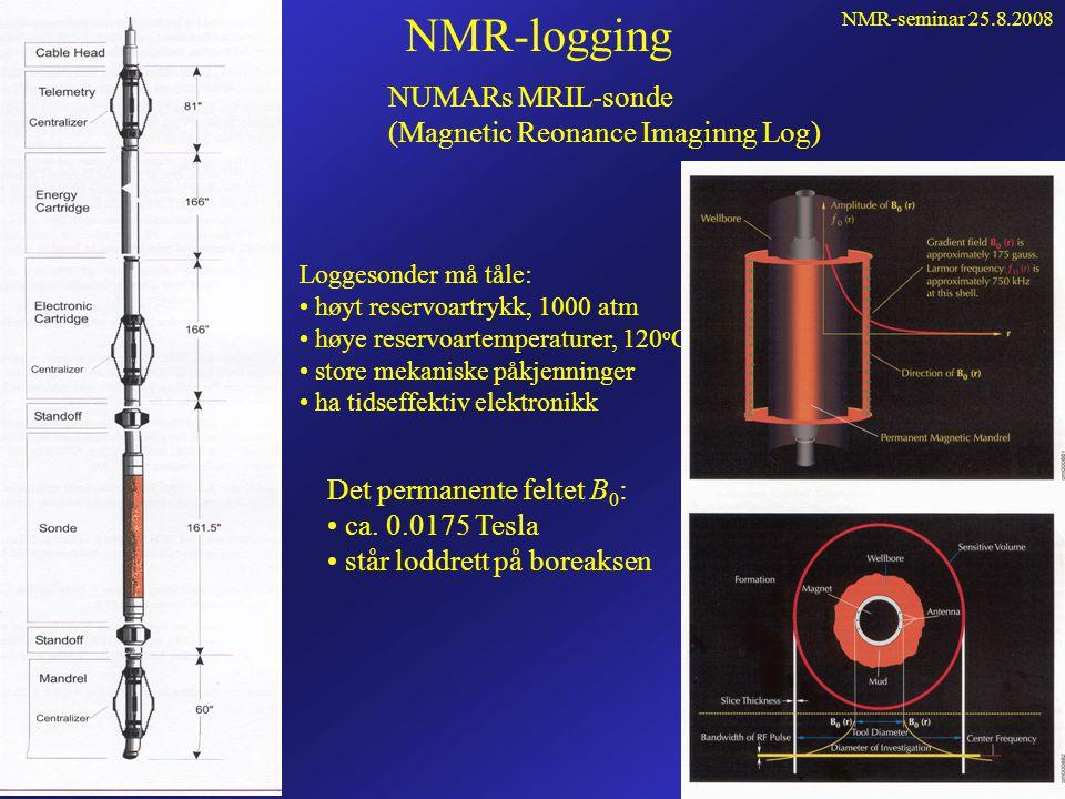 NMR-seminar 25.8.2008 59 Repetisjon forts... • Flytter molekylene slik at feltet er forskjellig i defasing og refasing (CPMG) • Problem i feltgradient