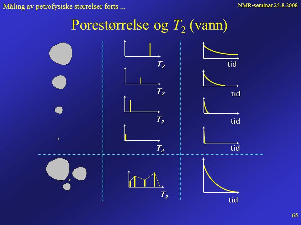 NMR-seminar 25.8.2008 64 Måling av petrofysiske størrelser forts...