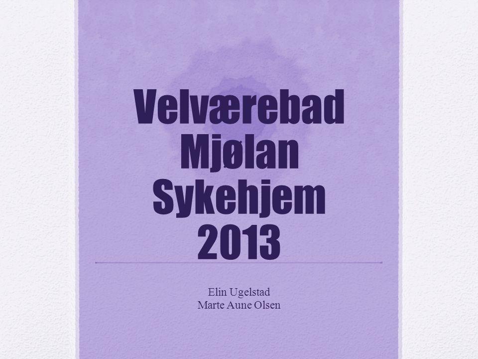 Velværebad Mjølan Sykehjem 2013 Elin Ugelstad Marte Aune Olsen