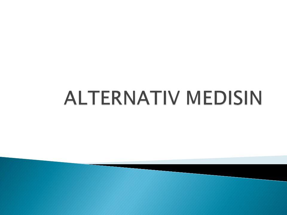 Ved siden av skolemedisin finnes det alternative behandlingsformer  Den viktigste forskjellen er at alternativ medisin har helt andre forklaringer på hva som kan være årsak til sykdom, og derfor også bruker helt andre metoder til å behandle dem.