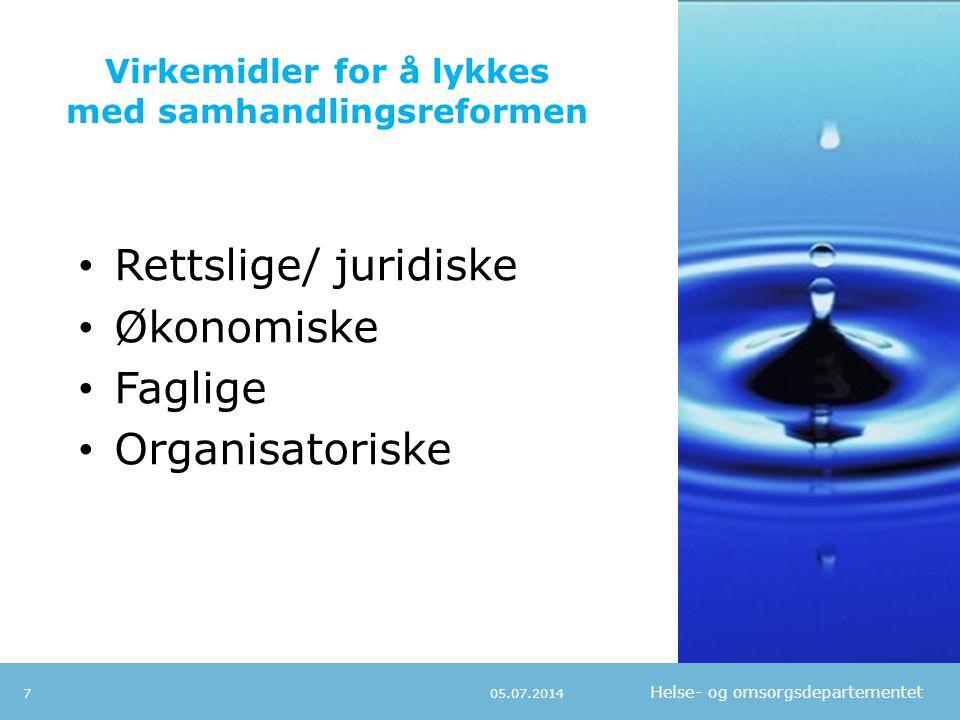 Helse- og omsorgsdepartementet Strategisk tilnærming • Hva er våre utfordringer; • Hva er de viktigste helseutfordringene i vår kommune.