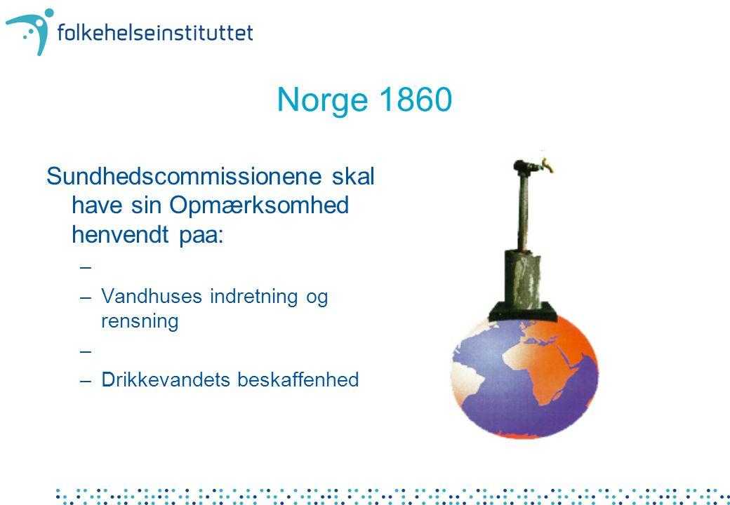 Vannmengder •Tilgjengelig vannmengde pr år i Norge: –400.000 millioner m 3 •Vannforsyning –761 mill m 3 levert fra vannverk i praksis –330 mill m 3 (200 liter/pers./døgn teoretisk beregning) •Jordbruk –265 mill m 3 •Industri –1.280 mill m 3