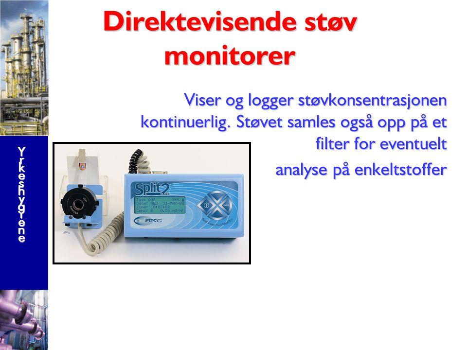 YrkeshygieneYrkeshygieneYrkeshygieneYrkeshygiene Direktemålinger ved bruk av farge indikatorrør Her vist ved bruk av en sample-bag