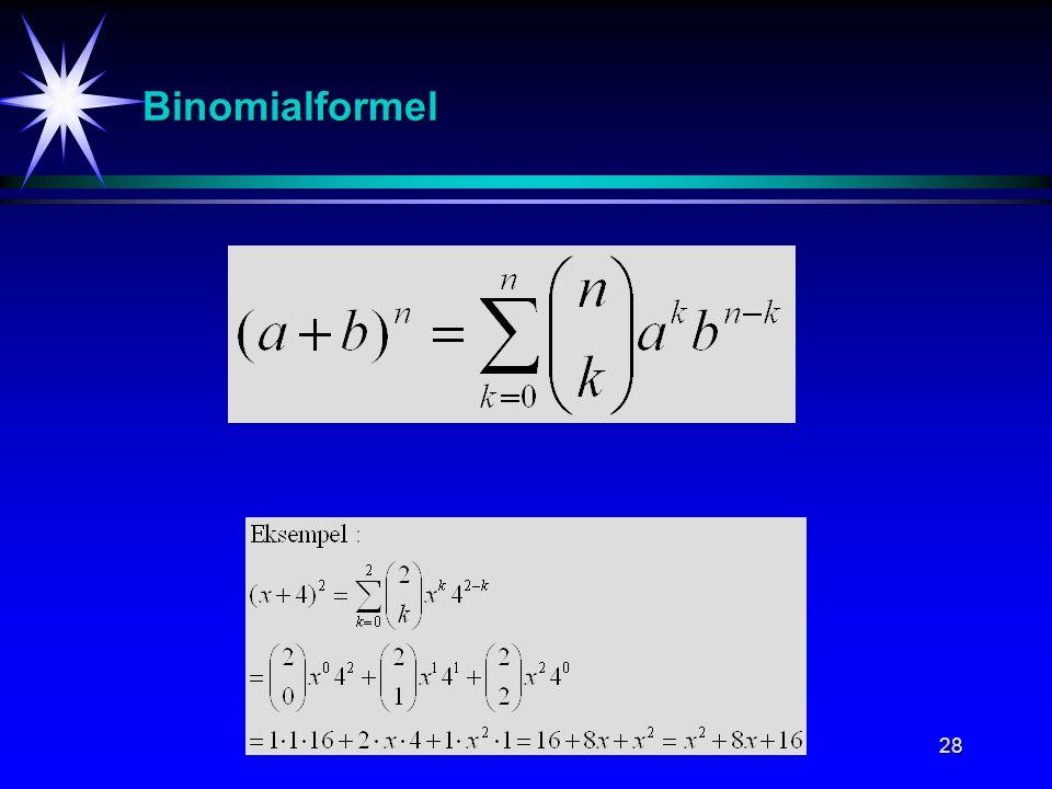 28 Binomialformel