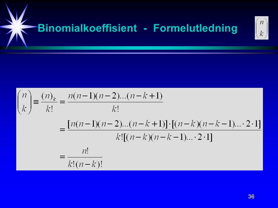 36 Binomialkoeffisient - Formelutledning