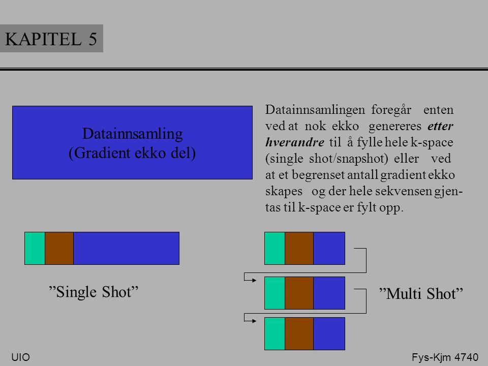 KAPITEL 5 Datainnsamling (Gradient ekko del) Siste software release åpner også for en B-FFE datainn- samlingsdel. RF Sel Fase Frekv. tid. UIO Fys-Kjm
