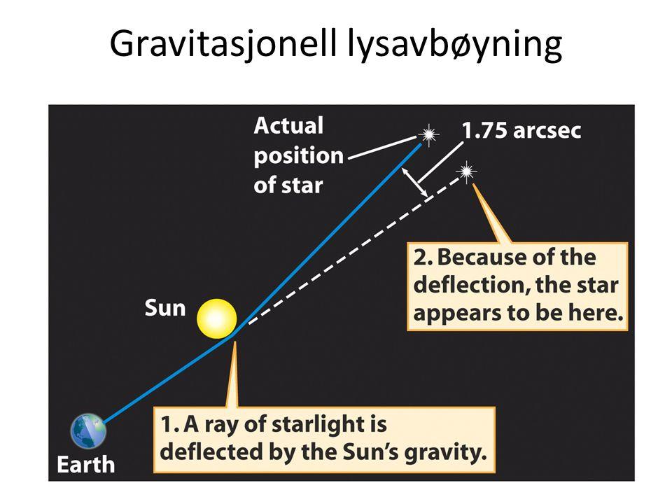Gravitasjonell lysavbøyning