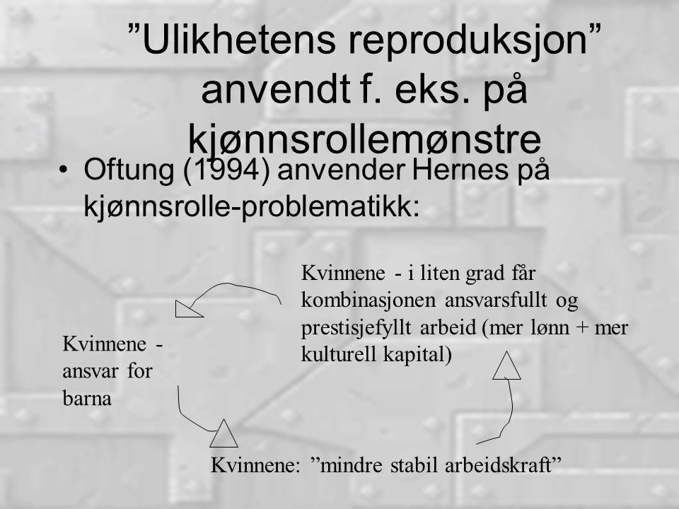 Ulikhetens reproduksjon anvendt f. eks.