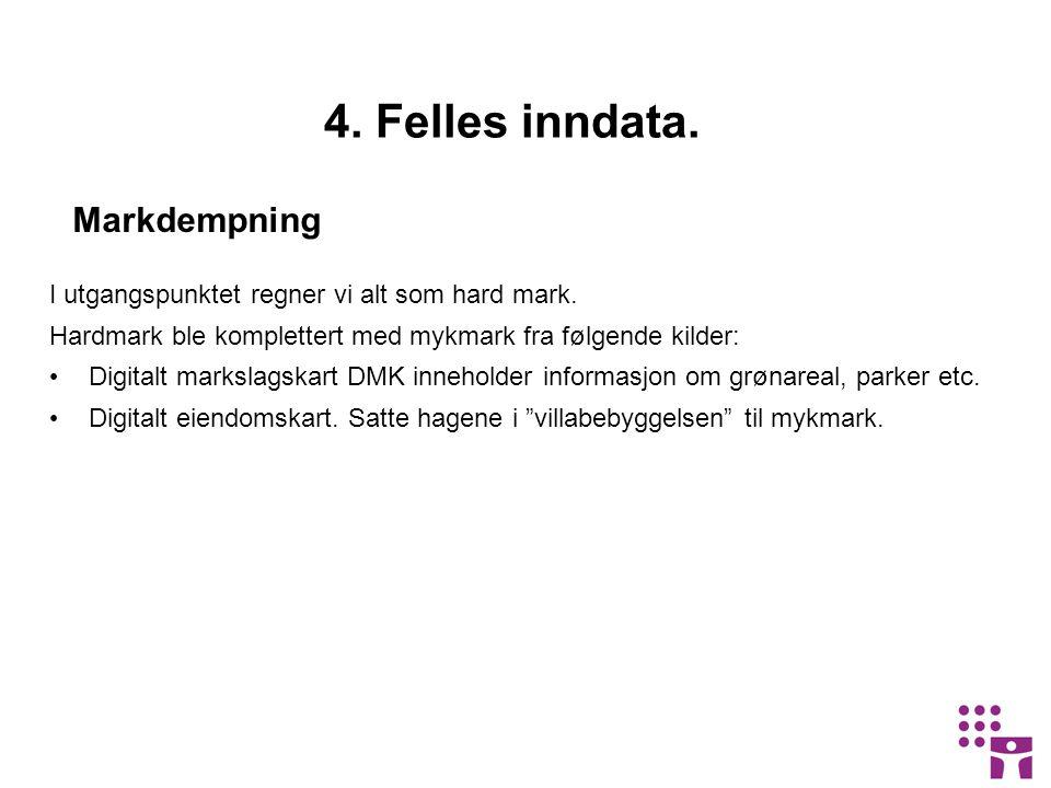 Markdempning 4.Felles inndata. I utgangspunktet regner vi alt som hard mark.