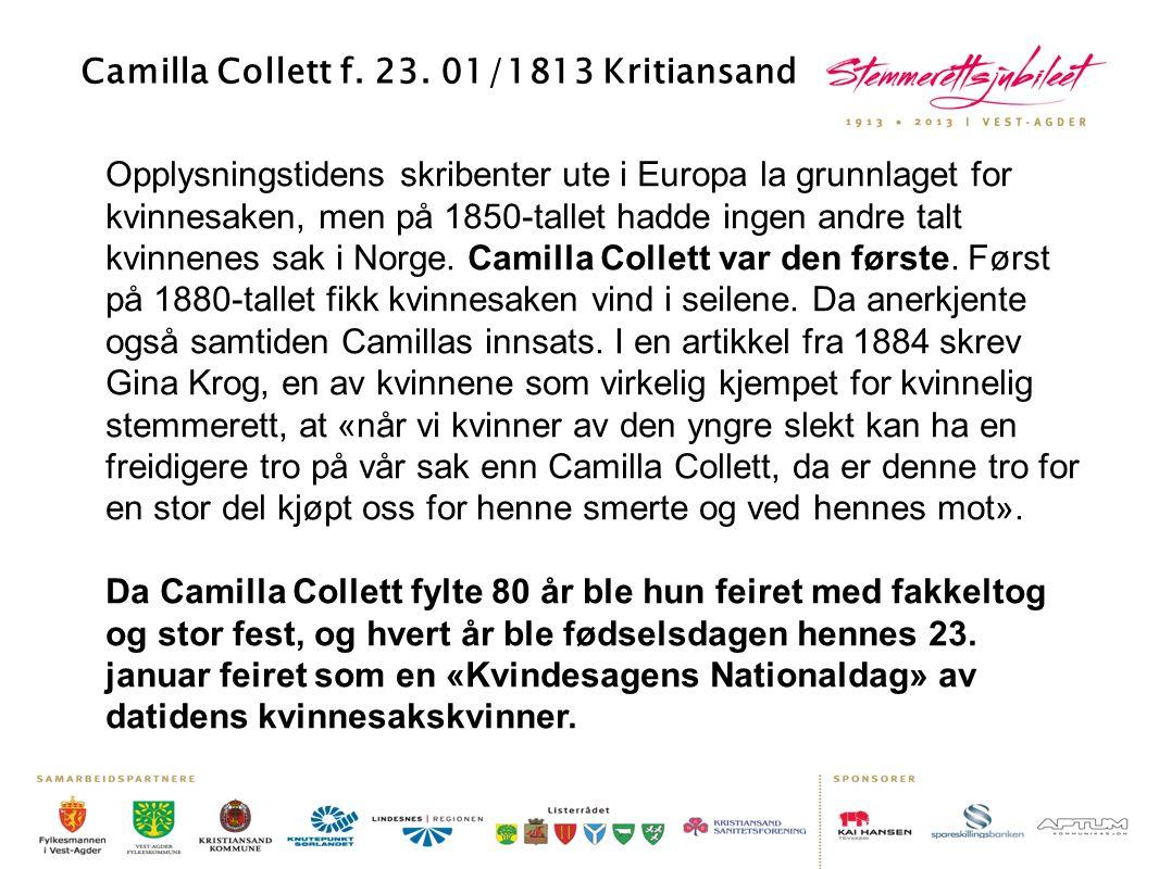 Opplysningstidens skribenter ute i Europa la grunnlaget for kvinnesaken, men på 1850-tallet hadde ingen andre talt kvinnenes sak i Norge. Camilla Coll