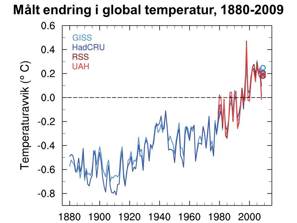 Helge Drange Geofysisk institutt Universitetet i Bergen Målt endring i global temperatur, 1979-2009