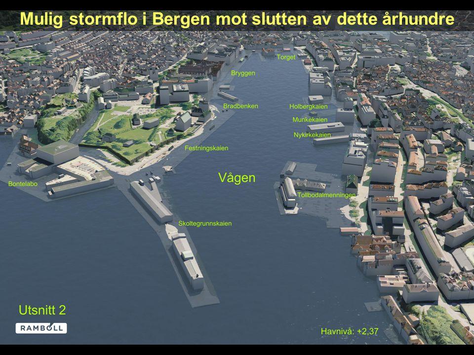 20 Mulig stormflo i Bergen mot slutten av dette århundre