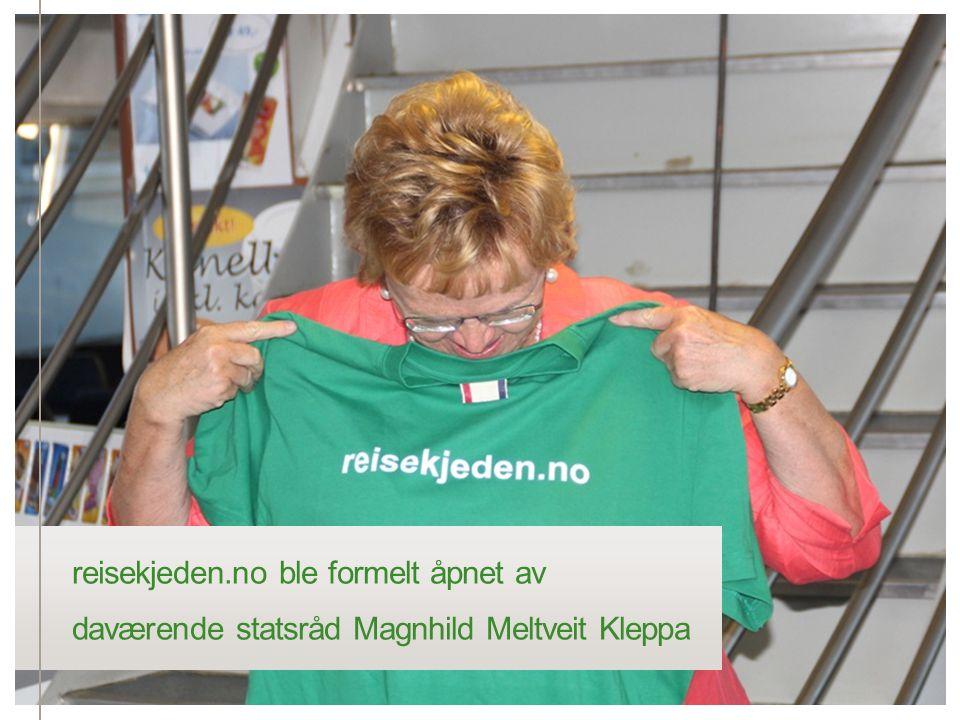 reisekjeden.no ble formelt åpnet av daværende statsråd Magnhild Meltveit Kleppa