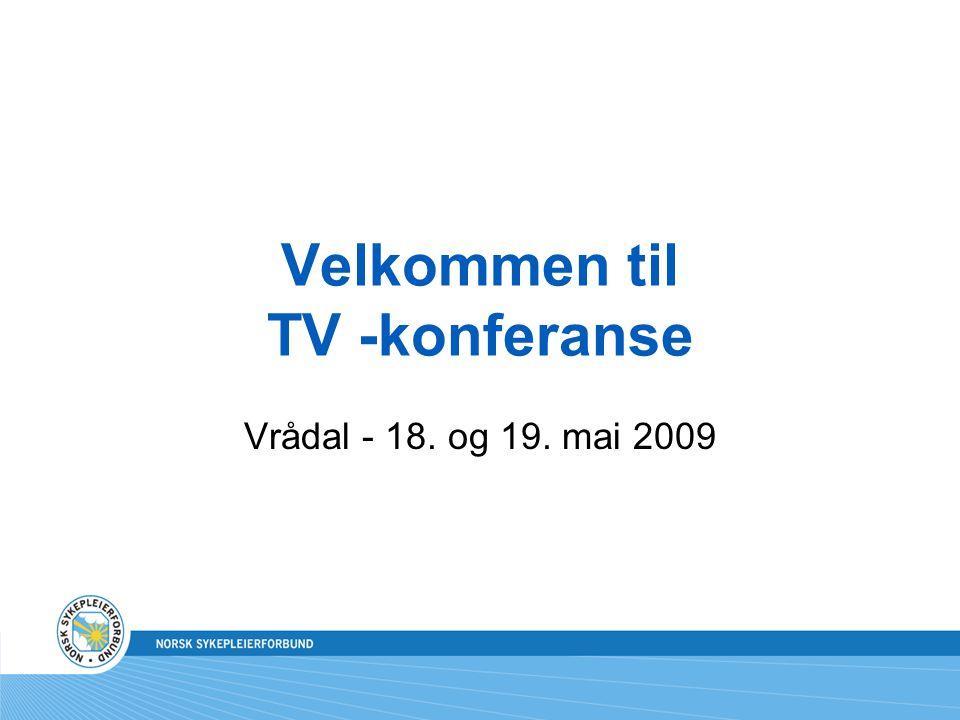 Velkommen til TV -konferanse Vrådal - 18. og 19. mai 2009
