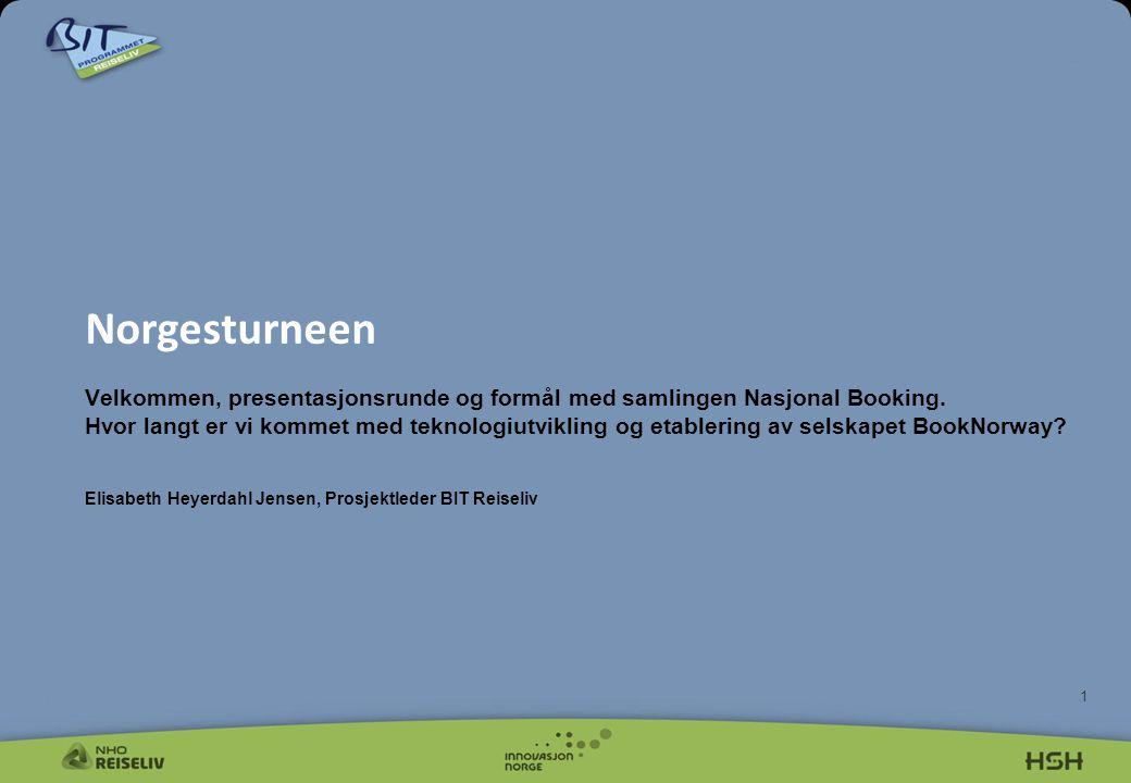 1 Norgesturneen Velkommen, presentasjonsrunde og formål med samlingen Nasjonal Booking.