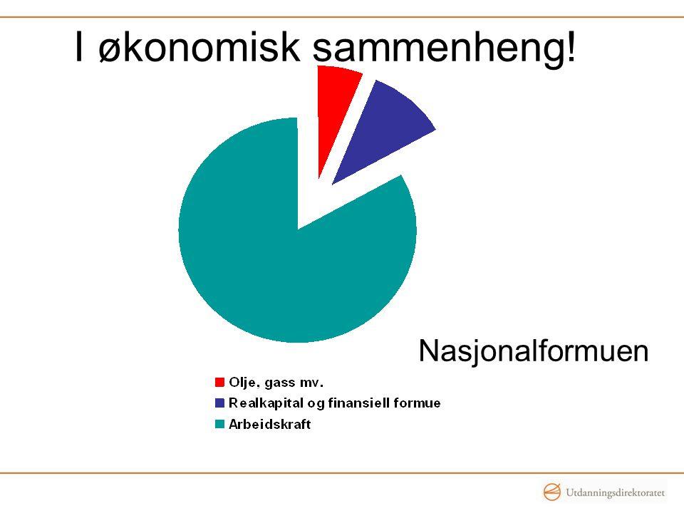 Nasjonalformuen I økonomisk sammenheng!
