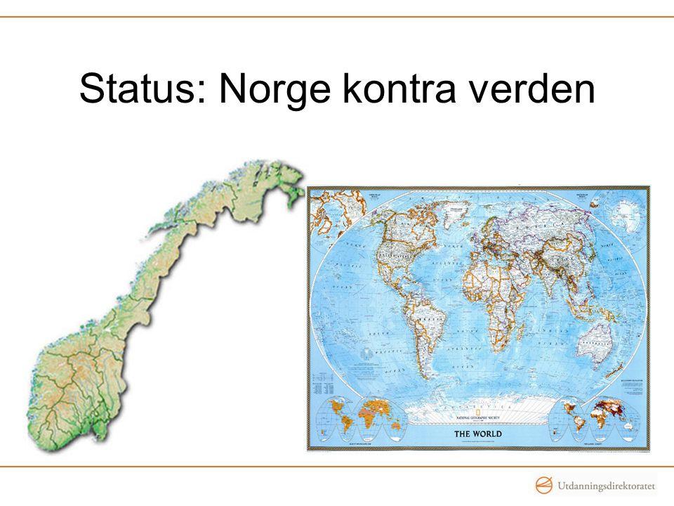 Status: Norge kontra verden