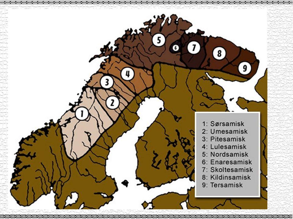 Skriftspråk •År 1557 eldste skrevne samiske ord •1700-tallet sørlappiske bokspråket –bygde på nordlig sørsamisk og var tenkt som et felles skriftspråk •Alle forsøk med felles skriftspråk har misslyktes