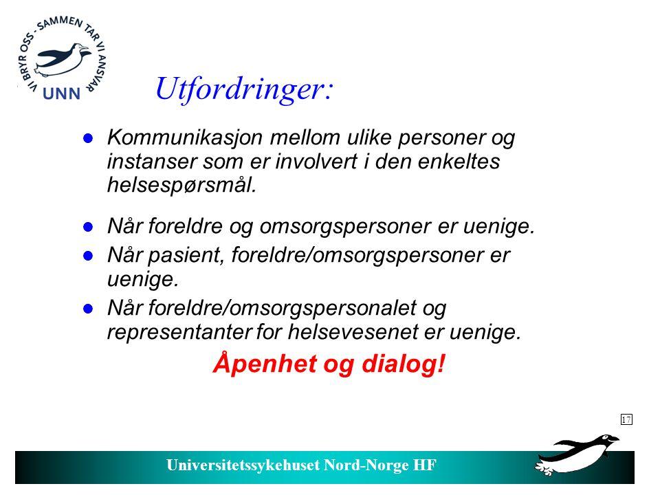 Universitetssykehuset Nord-Norge HF Hvem har ansvar for hva.