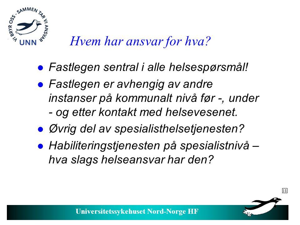 Universitetssykehuset Nord-Norge HF Overgang fra barne- til voksenhabilitering.