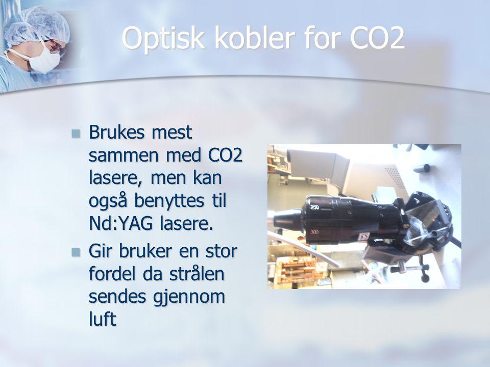 Optisk kobler for CO2  Brukes mest sammen med CO2 lasere, men kan også benyttes til Nd:YAG lasere.