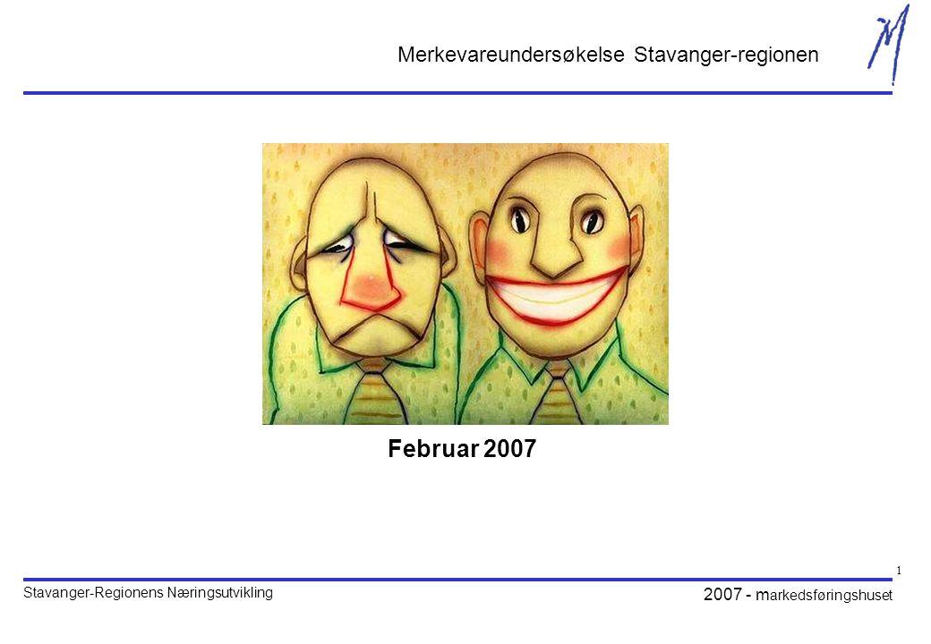 Stavanger-Regionens Næringsutvikling 2007 - m arkedsføringshuset 32 Hva er husholdningens inntekt?