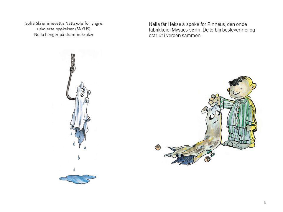 Sofia Skremmevettis Nattskole for yngre, uskolerte spøkelser (SNYUS).