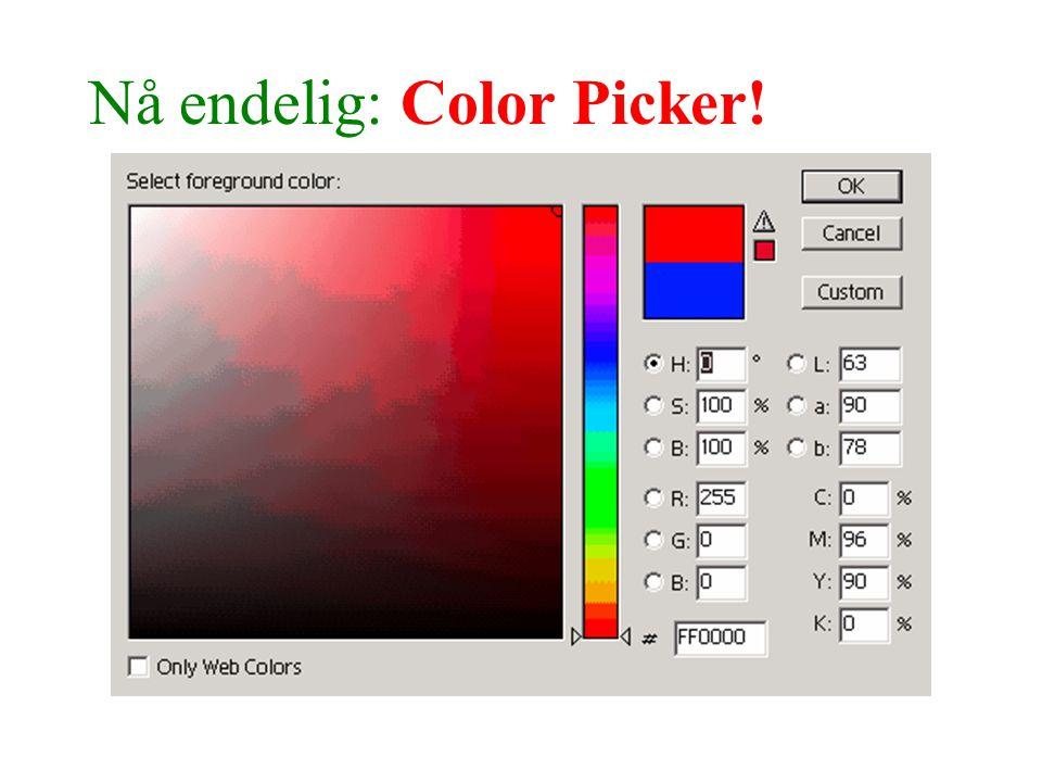 Nå endelig: Color Picker!
