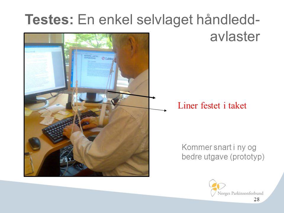 Testes: En enkel selvlaget håndledd- avlaster 28 Liner festet i taket Kommer snart i ny og bedre utgave (prototyp)