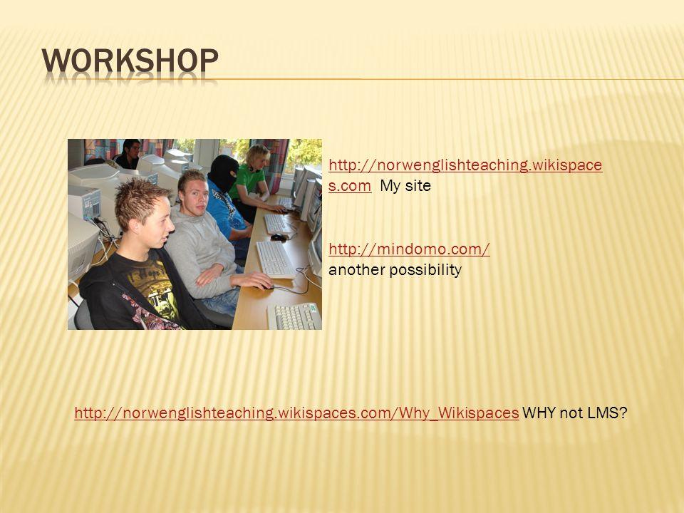 Nettsted  http://wikispaces.com opprett en konto med mer http://wikispaces.com  http://blogspot.comopprett en konto med mer http://blogspot.com  http://delogbruk.ning.combli medlem med mer http://delogbruk.ning.com  http://epals.combli medlem med mer http://epals.com Produksjonssteder  Lydfiler ( audacity )legg inn en lydfilaudacity  Videoer ( Youtube)legg inn en videoYoutube  Slides ( slideshare)legg inn en presentasjonslideshare