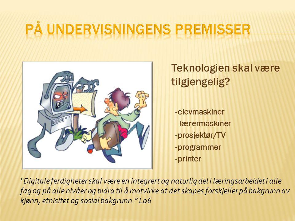  Mål - ny og bedre bruk av IKT for læring ✓  Handlingsplan - innkjøp og kursing ✓  Forutsetninger – det kunstneriske øyet  Hvordan påvirker du.