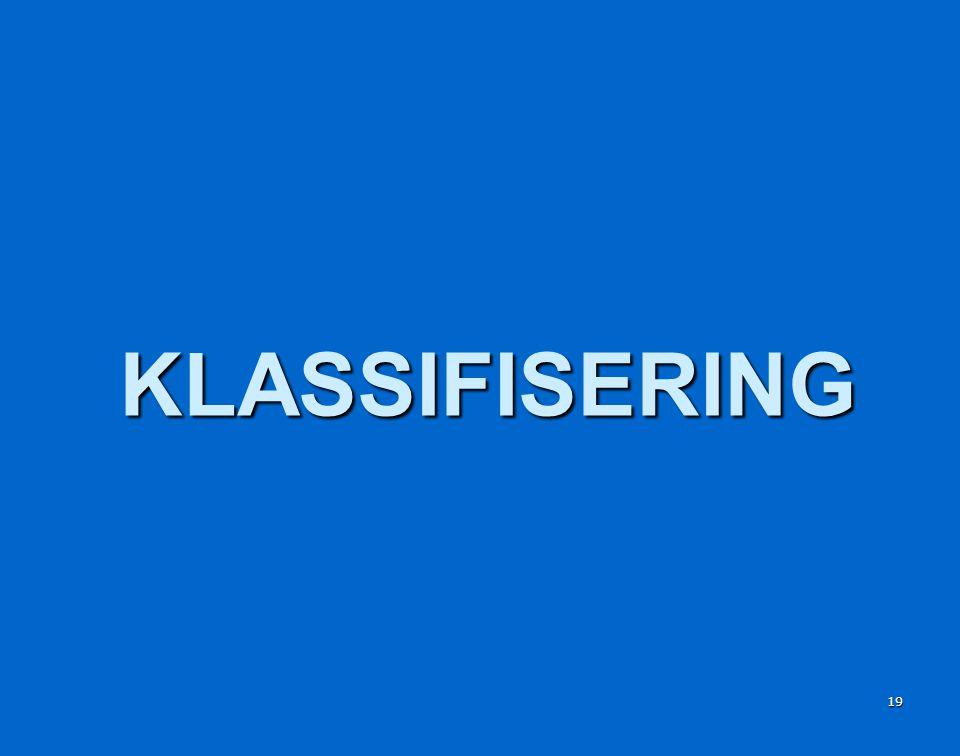 19 KLASSIFISERING