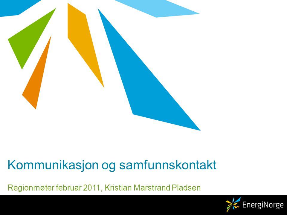 Kommunikasjon og samfunnskontakt Regionmøter februar 2011, Kristian Marstrand Pladsen