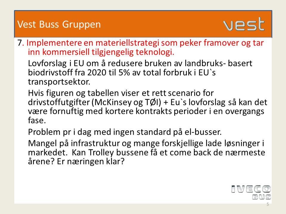 Vest Buss Gruppen 8.Rydde i anbudsdokumentene bl a unngå gjentakelse av lovverk.