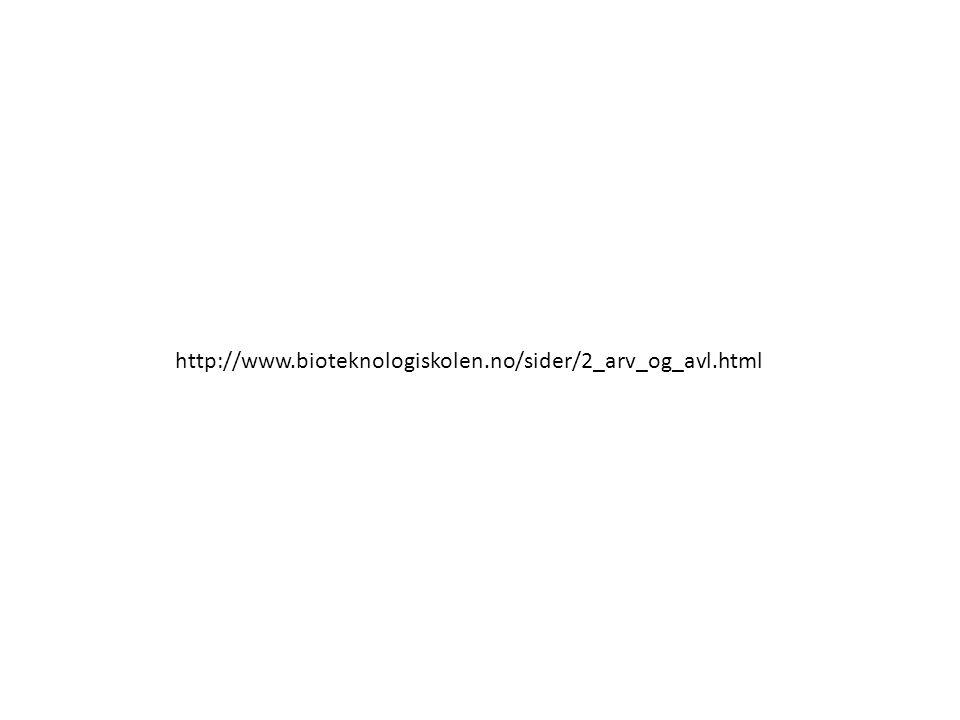 http://www.bioteknologiskolen.no/sider/2_arv_og_avl.html