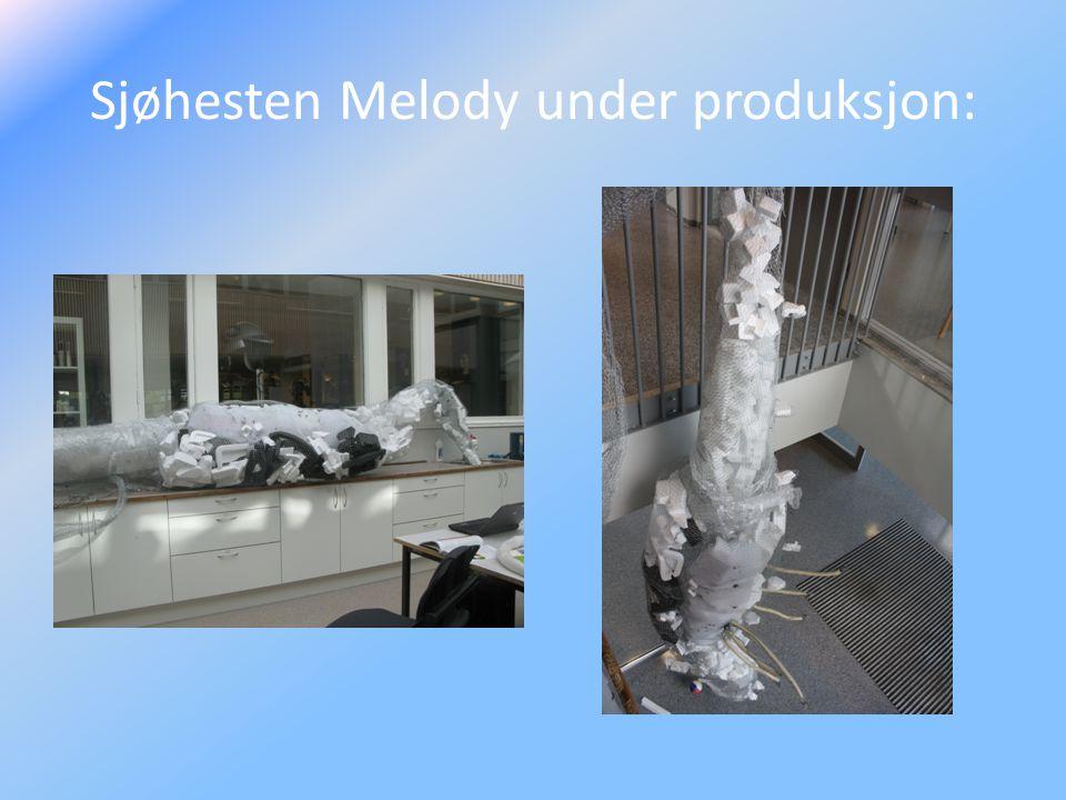 Sjøhesten Melody under produksjon: