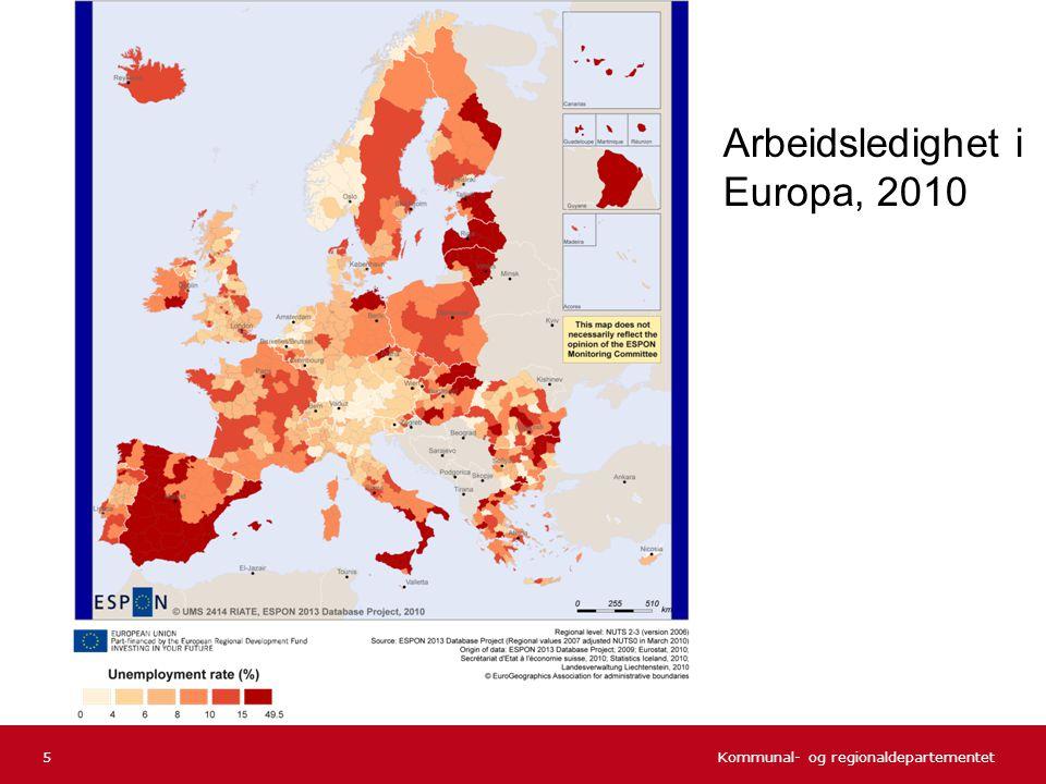 Kommunal- og regionaldepartementet Storby- regioner SMBy utenfor DPV SMBy innenfor DPV Tettsteds- regioner Spredtbygde områderTotalt Øst-Viken19,0 %11,4 %18,4 % Innlandet6,7 %6,1 %5,4 %3,1 %6,3 % Vest-Viken12,3 %9,4 %6,5 %9,1 %6,0 %10,5 % Sørlandet11,2 %8,5 %8,0 %7,7 %7,2 %9,6 % Vestlandet11,1 %7,2 %6,8 %5,8 %6,5 %9,1 % Trøndelag8,2 %4,7 %3,9 %7,8 %6,8 % Nord-Norge8,3 %5,7 %5,5 %4,8 %5,9 % Totalt14,7 %8,3 %5,9 %5,8 %5,9 %11,4 % Innvandrerbefolkningen i forhold til total befolkning 46