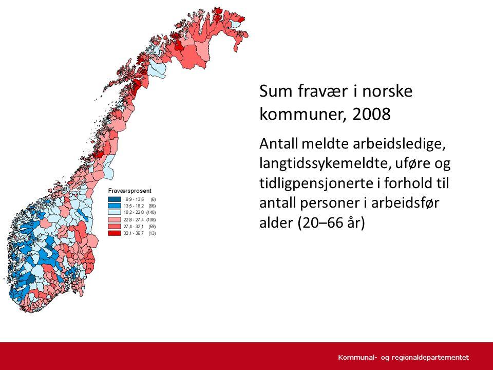 Kommunal- og regionaldepartementet Kjønnskvotienten (antall kvinner per 100 menn) i aldersgruppen 15–44 år etter sentralitet 1981–2010 Kjønnsbalanse.