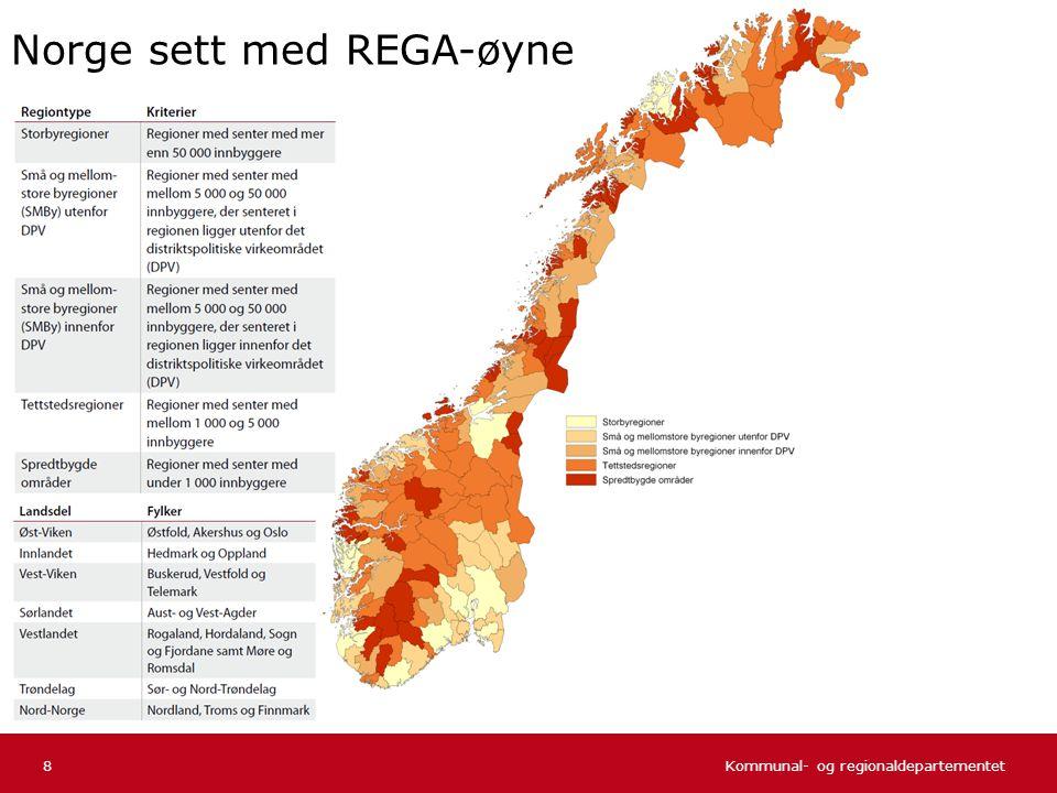 Kommunal- og regionaldepartementet Norsk mal: Tekst uten kulepunkter 29 Befolkningen etter alder og sentralitet Befolkningens aldersfordeling etter sentralitet per 1.1.2001.