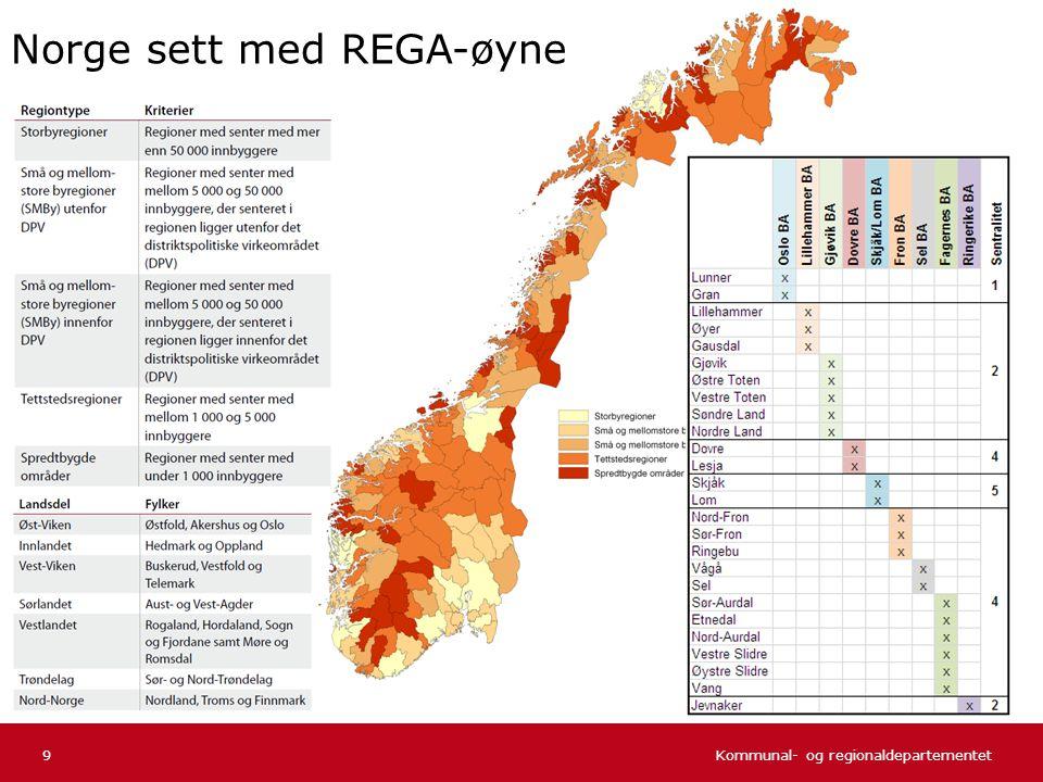 Kommunal- og regionaldepartementet Norsk mal: Tekst uten kulepunkter 30 Befolkningen etter alder og sentralitet Befolkningens aldersfordeling etter sentralitet per 1.1.2006.